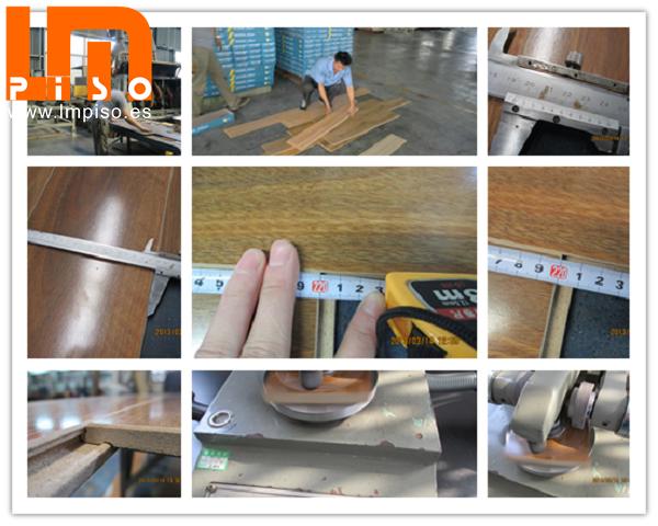 Suela laminada madera terminación cristal del color cerezo vertical