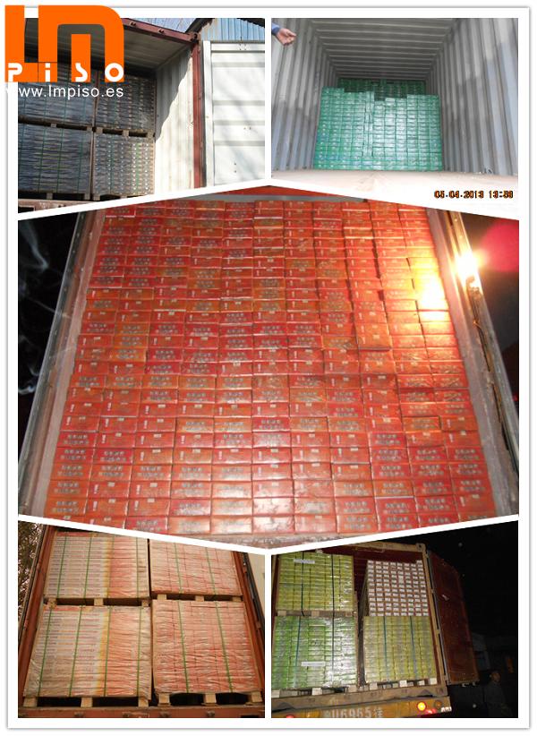 Lujoso piso flotante handscraped terminación CE calificado con rectos bicelados