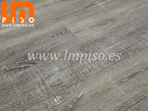 A grado pisos flotantes cutting stone popular color gris con